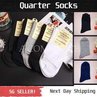 [Set of 5] Quarter Socks / 1/4 Socks / Adult Working Socks / School Socks
