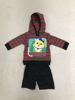 Baby Hoodie Top+bottom