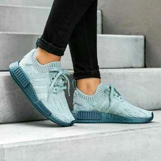 "Sepatu Adidas NMD R1 W PK ""Tactile Green/Petrol Metallic"""