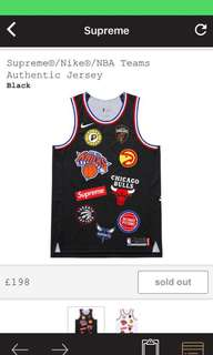 Supereme x NBA Teams Jersey (black)