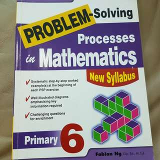 P6 Math Problem solving step by step. with ans sheet
