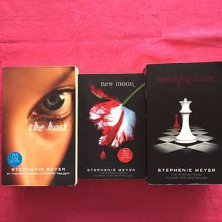 The host, Breaking dawn, New moon by Stephanie Meyer