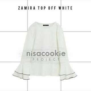 Zamira top off white