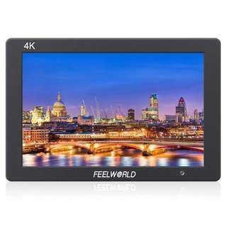 "Feelworld T7 7"" IPS Full HD On-Camera Monitor with Built-In Speaker, 1920x1200, Support 4K HDMI Input/Output, Histogram & Focus Assist"