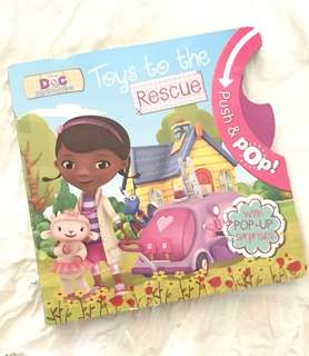 Charity Sale! Disney Doc McStuffins Toys to the Rescue Book Push & Pop Children's Book
