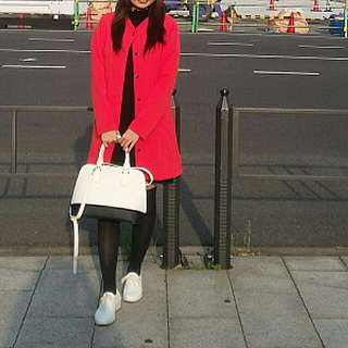 RED coat Jaket merah