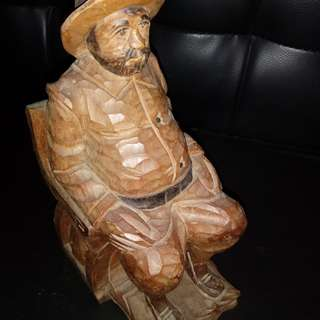 Solid wood carving