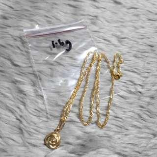 18K gold necklace 1.6 gram