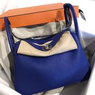 BRAND NEW Hermes Lindy 26 BLUE ELECTRIC