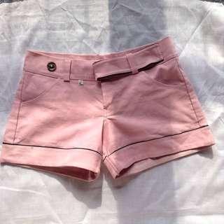 Blush pink stretchy shorts