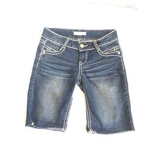 Denim Knee Short