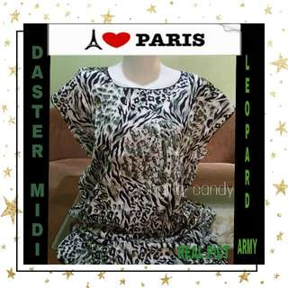 ( NEW PRODUCT ) Daster Midi Leopard - Army