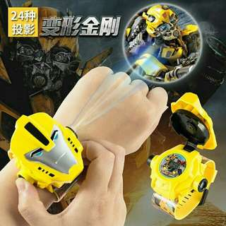 Tranformers bumblebee prime projection cartoon electronic