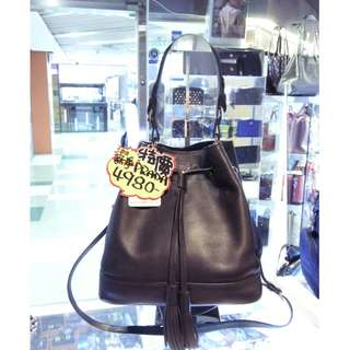 Prada Black Leather Shoulder Hand Bag 普拉達 黑色 牛皮 皮革 索繩袋 水桶袋 手挽袋 手袋 肩袋 袋 斜揹袋 斜背袋