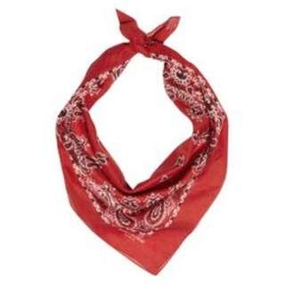 Cotton handkerchiefs - blue/red color
