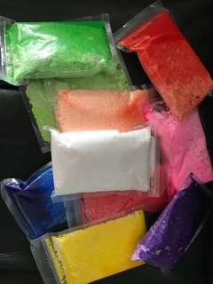 Colourful foam clay