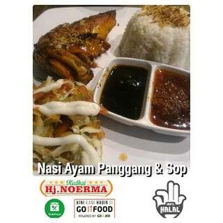Nasi Ayam Panggang & Sop