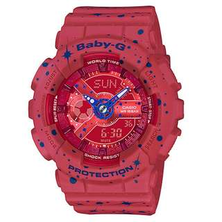 BA-110ST-4ADR BA-110ST-4A BA-110ST Brand New Casio Baby-G Quartz 100m World Time 100% Authentic Digital Analog Ladies Sports Watch w/ Warranty