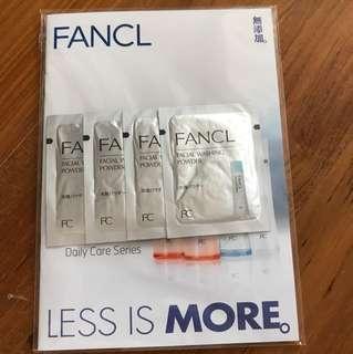 Fancl facial washing powder sachets