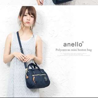 Repost: Authentic Anello Canvas Boston Sling in Navy Blue