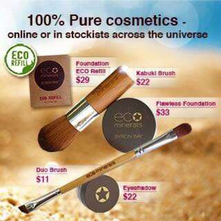 Eco minerals concealer make up eye shadow blush bronzer and brows - nothing over $33