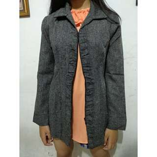 Blazer with zipper *freeongkir