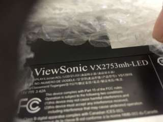 FS: View Sonic VX2753MH- LED monitor