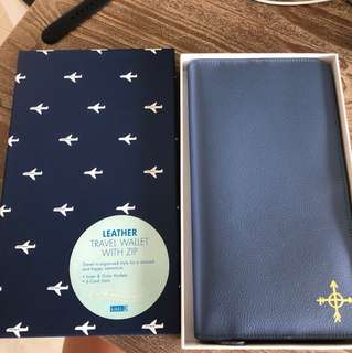 Kikki.k leather travel wallet