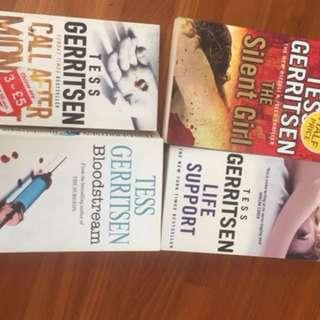Books! Patricia cornwell, Tess gerritsen, Karen slaughter etc