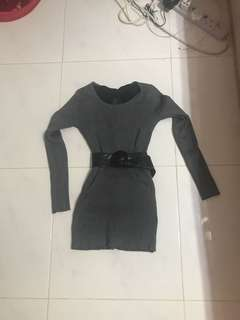Brand new grey knitted dress