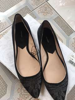 Mango Black Pointed Doll Shoes