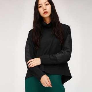 Moussy X Adidas高領舒適上衣(黑色)