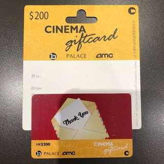 百老匯 Palace AMC Cinema $200 gift card
