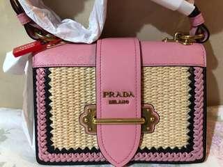 全新 Prada Cahier pink