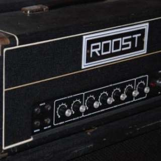 Roost SR100 100W amp head An ultra-rare example of British Hiwattish/Sound Cityesque greatness.