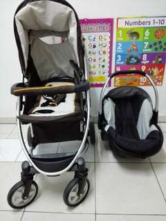 Hauck Malibu Stroller and Car Seat