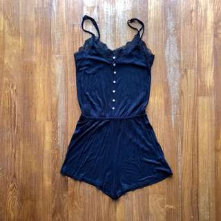 Cotton On black lace romper