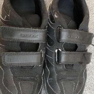 Geox Respira Full Black School Shoes size 34