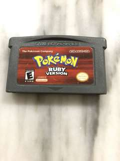 Pokemon Ruby Version Cartridge (Gameboy Advance)