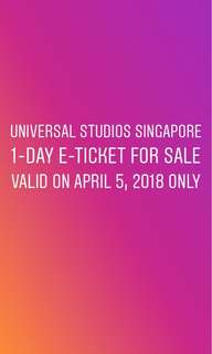 Universal Studios Singapore 1-day pass ticket