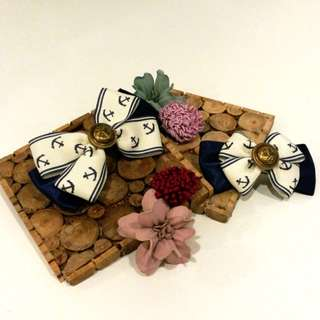 Handmade Sailor Hairclips (2 Sizes)