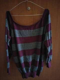 Knit purple stripe