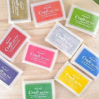 Stamp ink pads in different colours