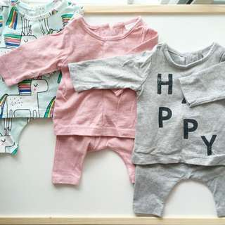 Next baby shirts and pants size 0-1month