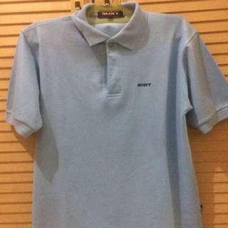 Baju Polo Sony Light Blue