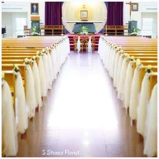 Church Wedding Package: Customizable ROM / Church Wedding / Hotel wedding Fresh Flowers Venue Decor / wedding table centerpiece