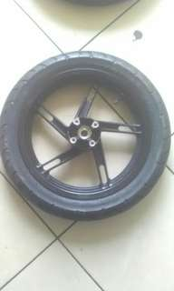 Velg racing + ban dan shockbreaker eks MX King