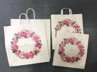 (XL,L)Takashimaya Paper Bags