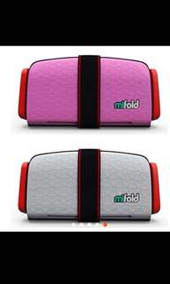 Pink mifold portable car seat for taxis