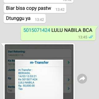Trusted (bukti transfer)